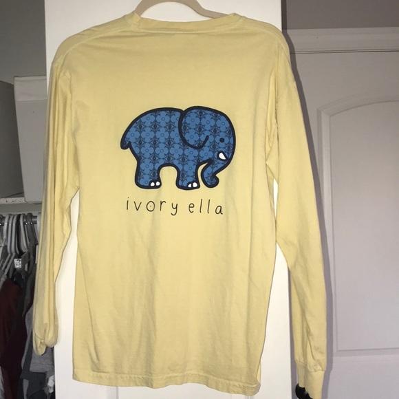 4e33436fdd2af ivory ella Tops - Long Sleeve Yellow Ivory Ella Tee Shirt